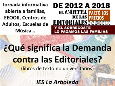 Charla sobre demanda a editoriales